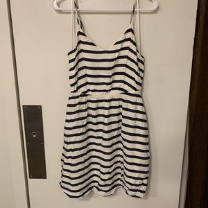 Lauren Conrad Navy and white dress